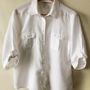 H&M womens size 12 linen shirt